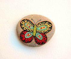 Me dell'Adriatico de Sassi  mano piedra pintada mar