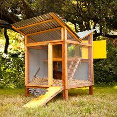 DIY Chicken Coops Even Your Neighbors Will Love. But will my husband?! He says this will be a lot of work... just in case, though... Here's the plans!