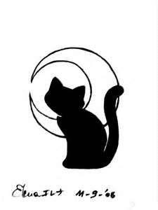 Black Cat Tattoo By Tsuyachan On DeviantART