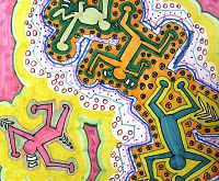 keith haring- cant wait to start this project with my kids!!