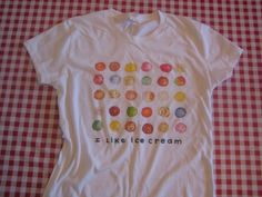 ice cream shirt $20 on etsy
