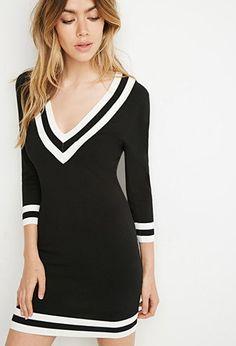 Varsity striped sweater dress forever 21 2000113951