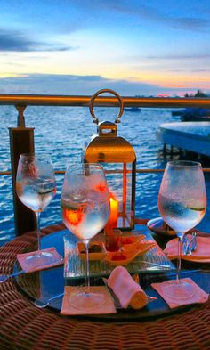 We loved watching the sun set every day at Baros Maldives from their Lighthouse Lounge, while enjoying, what I called, 'gin & tonics with a view'.