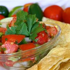 Fresh Tomato Salsa Allrecipes.com  This recipe is really good for summer