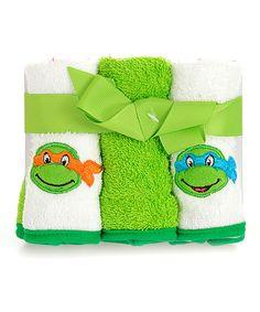 Look at this Teenage Mutant Ninja Turtles Wash Cloth Set on #zulily today!