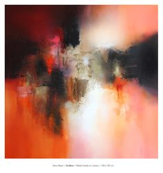 """""""Endless"""" / 100 x 100 cm / Available at Gallery / Brighton / UK Brighton Uk, Abstract Paintings, Watercolor, Orange, Gallery, Red, Pink, Inspiration, Abstract Backgrounds"""