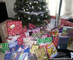 christmas presents under the tree | ... , open christmas presents , open christmas gifts , gifts under tree