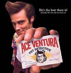 Jakob's favorite movie is Ace Ventura: Pet Detective. Jim Carrie, Ace Ventura Costume, Jim Carrey Quotes, Ace Ventura Pet Detective, Mystery, Book Sites, 3d Studio, Comedy Movies, Cult Movies
