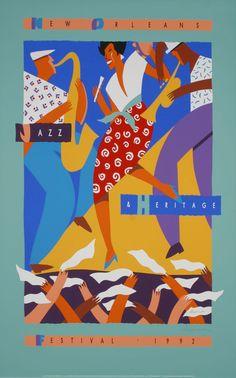 New Orleans Jazz & Heritage Fesitval Posters - 1992