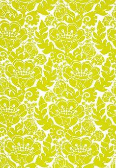 174722 Louis Nui Print Sulfur by F Schumacher Fabric