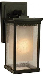 Craftmade Z3704-92 Wall Lantern with Seeded Outer with Frosted Amber Inner Glass…