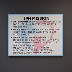 Mission Statement Wall Sign | Woodland Manufacturing