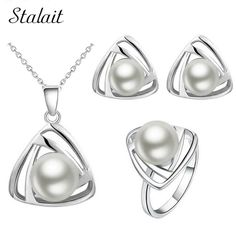 Now Available on our store RARE: Silver Colo... Get it here http://krazyabout.com/products/rare-silver-color-simulated-pearl-pendant-necklace-earrings-rings-jewelry-sets?utm_campaign=social_autopilot&utm_source=pin&utm_medium=pin.