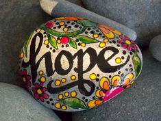 Holding+On+To+Hope+/Painted+Rock+/+Sandi++Pike+by+LoveFromCapeCod,+$32.00