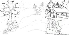 Fise de lucru - gradinita: IMAGINI de colorat - JOCURILE copiilor iarna Kindergarten, Kindergartens, Preschool, Pre K, Day Care