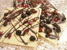 white chocolate with blueberry, black currant & rosebuds