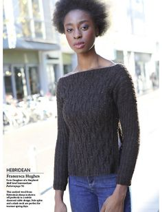 Transitional seasons inspired the silhouette of this design. Whilst still being woolly and warm, side splits and slash neck design features allow cool breezes to penetrate the jumper on the warmer days, and still being able to layer up on the colder days of transition. The beautiful yarn is a hearty rustic wool.