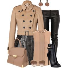 Burberry Coat, created by martina-hel on Polyvore