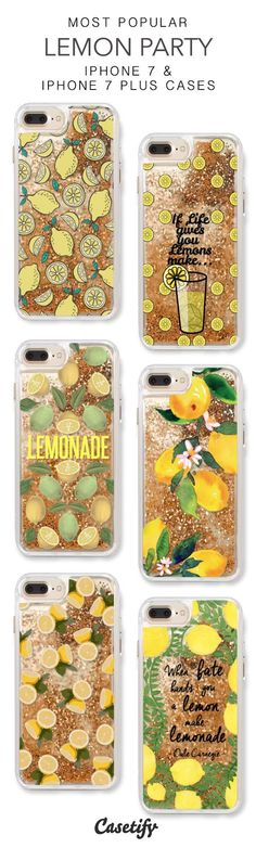 Most Popular Lemon Party iPhone 7 Cases & iPhone 7 Plus Cases. More liquid glitter iPhone case here > https://www.casetify.com/en_US/collections/iphone-7-glitter-cases#/?vc=waSEkxgm58 #iphone7plus, #iphone7pluscase