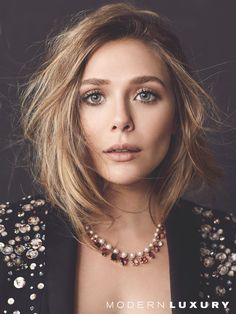 Elizabeth Olsen Looks Like a Vision in Modern Luxury