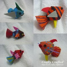 ... kid's finished product – The Egg <b>Carton</b> Fish. Simply beautiful