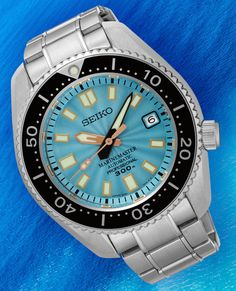 """Seiko Marinemaster 300M SLA015 Limited Edition Watch For Europe Only - by David Bredan - Learn more about this limited edition at: aBlogtoWatch.com """"Well, we say 'Europe only,' but all 200 pieces actually are exclusive to Seiko retailers in Germany: enter the new Seiko Marinemaster 300M SLA015 Limited Edition, Seiko's latest addition to its famed Marinemaster line, now with an interesting new dial. If you like Japanese watches and have ever been to Japan..."""" Via: watchesbysjx.com"""