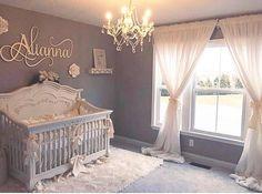 50 Cute Baby Nursery Ideas for Your Little Princes – Baby girl nursery room - Baby Room Baby Bedroom, Baby Room Decor, Nursery Room, Nursery Ideas, Baby Gurl Nursery, Elegant Baby Nursery, Twin Baby Rooms, Room Baby, Rustic Nursery