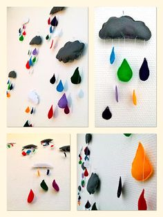 rainbow drops and clouds