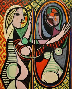 Pablo Picasso - Girl before a Mirror, 1932, oil on canvas http://www.flickr.com/photos/renzodionigi/4262458494/in/pool-40181466@N00%7Crenzodionigi