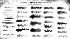 Custom Brushes of Tyler Street by streetz86.deviantart.com on @deviantART