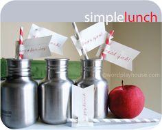 Simple school lunch ideas by WordPlayHouse.