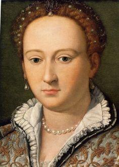 Isabella de' Medici, (1542-1576) c. 1567. daughter of Cosimo I de' Medici, first Grand Duke of Tuscany, and Eleonora di Toledo. By Alessandro Allori,  c. 1567