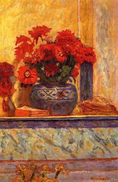 Red Flowers by Pierre Bonnard, 1927