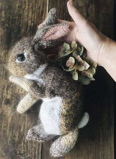 How to knit a bunny rabbit. Click through for easy step by step tutorial and free knitting pattern to make a knitted bunny rabbit. Click through to get tips and all the info you need to make your own Knitted Bunnies, Knitted Animals, Free Knitting, Baby Knitting, Knitting Toys, Animal Knitting Patterns, Rabbit Baby, Hand Dyed Yarn, Stuffed Toys Patterns
