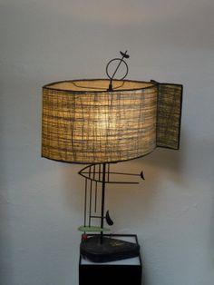 Fiberglass Fish Shade Atomic Light Mid Century Modern Table Lamp Rare Fiberglass Shade Fish Shape 1950s on Etsy, $595.00