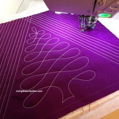 Free-Motion Quilting Loop Tree The FREE...