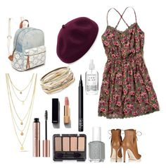 """""""Dressing Up"""" by claire-loescher on Polyvore featuring Hollister Co., Jimmy Choo, Red Camel, Kathy Jeanne, Kendra Scott, Chanel, NARS Cosmetics and Herbivore"""