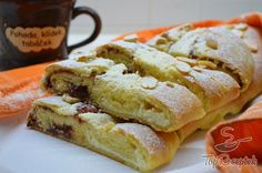 Dupla töltelékes édes-kelt tekercs Easy Smoothie Recipes, Easy Smoothies, Ital Food, Thing 1, Sweet Recipes, French Toast, Sandwiches, Muffin, Cooking Recipes