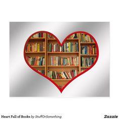 Heart Full of Books Postcards (x25)