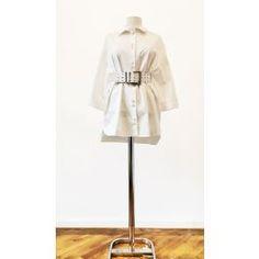 Camasa tip rochie cu maneca lunga, accesorizata cu centura lata si nasturi pretiosi Fashion, Dress, Moda, Fasion, Trendy Fashion, La Mode