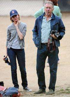 Harrison Ford and Calista Flockhar