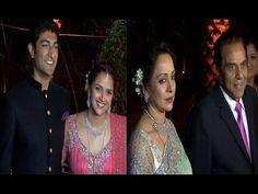 Dharmendra and Hema Malini | AHANA DEOL'S WEDDING RECEPTION.