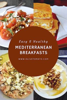 Greek Mediterranean Breakfasts- 5 filling and delicious Greek inspired breakfasts to start your day. #Greekfood #mediterraneadiet #breakfast