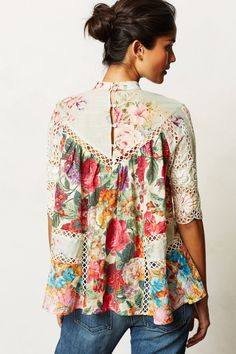 Frangipani Peasant Top - anthropologie.com
