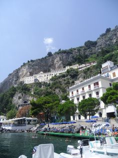 View from boat, Amalfi, Italy - I want to go to Italy someday.