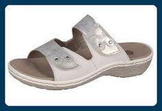 Pantolette, Remonte, D7663-90 weiss-silber, Größe 42 - Clogs für frauen (*Partner-Link)