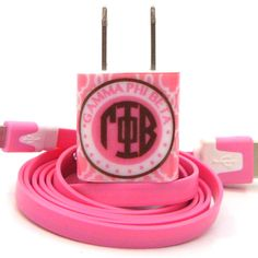 Cell Phone Charger Trellis - Gamma Phi Beta | Ring Ching Ching