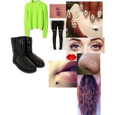 1-30-13 by itskissybiatch on Polyvore featuring UGG Australia and Lime Crime