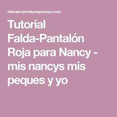 Tutorial Falda-Pantalón Roja para Nancy - mis nancys mis peques y yo