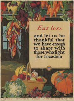 World War One Poster - Eat Less